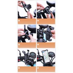 Držač i Nosač mobitela Za Električne Romobile, Skutere i Motocikle